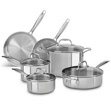 KitchenAid Tri-Ply Stainless Steel Cookware 6-Piece Set - Silver