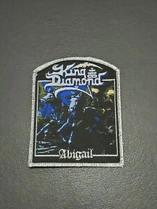King Diamond Abigail band Metallic Sliver Patch, Iron on Clothing Woven Badge