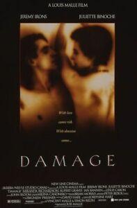 Damage (Single Sided) Regular) (1992) Original Movie Poster