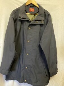 RM Williams GORE-TEX Mens Jacket Navy szXXL Lightweight Parka Outdoor Bush Coat
