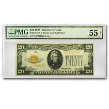 1928 $20 Gold Certificate AU-55 EPQ PMG