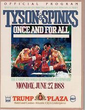 Tyson vs, Spinks Official 1988 Program / Mint!! 3 pictures of TRUMP!!
