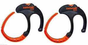 Cable Clamp, Cable Cuff PRO (2-Pack) Large, Adjustable & Reusable CFLP030808