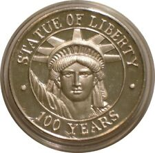 STATUE OF LIBERTY Centennial 1 oz SILVER Medal / Round GEM BU Prooflike
