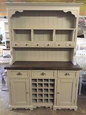 Welsh Dresser Farmhouse Kitchen Unit RUSTIC SHABBY CHIC OAK PINE Plate Rack NEW