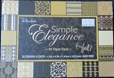 Simple Elegance 4.5x6.5 Premium Cardstock Paper Pack w/Foil by The Paper Studio