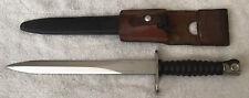 Original Swiss Model 1957 Bayonet, Scabbard & Heavy Leather Frog