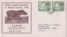 British Guiana 1939 Pinkus Jungle Expedition Signed Pinkus poor d.s. to USA