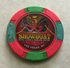 1996 SHOWBOAT HOTEL CASINO & BOWLING CENTER ~ $5 CASINO CHIP ~ LAS VEGAS, NEV!