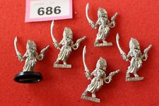 Games Workshop Warhammer 40k Eldar Howling Banshees Squad 5 Metal Figures Mint B