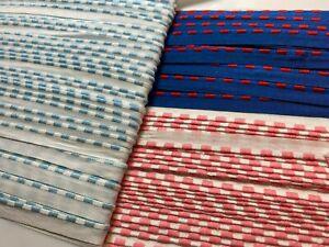 """Vintage Embroidered 3/8"""" Vintage Trim Lip Rail Batiste Cotton 1yd Made in France"""