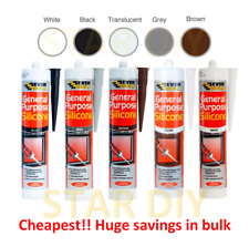 More details for general purpose silicone c3 cartridge 280ml sealant clear white brown black grey