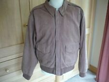 Leather Mens Bomber Style Jacket Size M Lt Brown