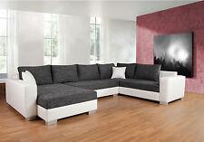 Couchgarnitur Sofa Garnitur Schlafsofa PUEBLA mit Schlaffunktion U Form Sofa