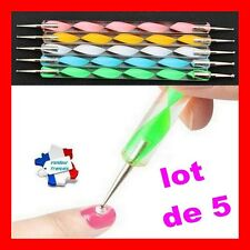 5 Stylets manucure  décors vernis ongles