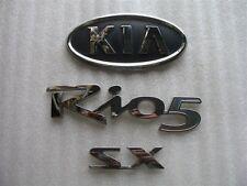2006 KIA RIO 5 RIO5 SX REAR TRUNK CHROME EMBLEM DECAL LOGO SET 06 07 08 09 10
