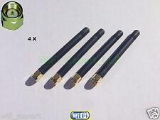 "4 x HIGH GAIN 2dBi 900/1800 MHz SMA Male Plug Straight GSM GPRS Antenna 3"" USA"