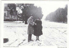 """+""""Snowstorm, 1919"""" /Couple @ Hollywood & Vine/ Early Hollywood ~Post Card~ (#34)"""