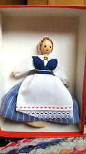 1960s USSR Soviet Estonian Souvenir SALVO Folk Wooden Doll in Box