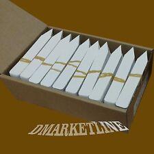 "5""x 5/8 White Quality Plastic Plant Labels Nursery Stake Tags markers etiqueta"