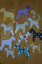 25 Schnauzer (Mini/Giant) Dog Die-Cut/Cut Outs Various Colours/Sizes Cardstock