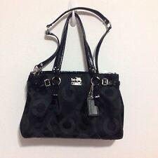 Coach Purse Handbag Shoulder Bag Satchel Black Classic C EUC!