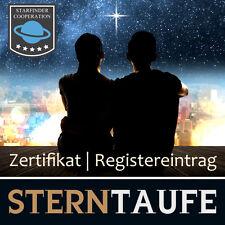 Sterntaufen mit Registereintrag und Planetarium-Software | Sterntaufe Zertifikat