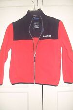 Children's Boys Nautica Fleece Zipper Front BLUE AND RED Jacket Size S (8)  EUC