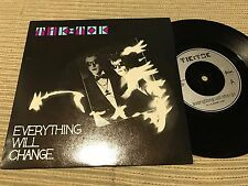 "TIK TOK - EVERYTHING WILL CHANGE 7"" SINGLE UK SURVIVAL 84 SYNTH POP"