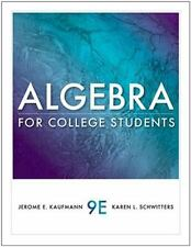 Available 2011 Titles Enhanced Web Assign: Algebra for College Students by...