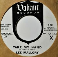 "Lee Mallory Take My Hand The Love Song DJ Promo 45 7"" Vinyl Sunshine Pop Psych"
