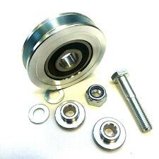 Seilrolle Torrolle Rolltor Laufrolle Flachnut D=75 Stahl, Deutsche Ware (M10)