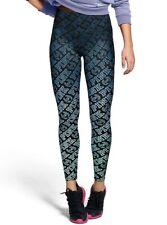 NIP VICTORIA'S SECRET PINK Logo Ultimate High Waist Legging Pants Ombre Blue M