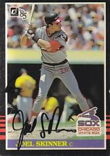 1985 Donruss #574 Joel Skinner Autograph Signed Catcher Chicago White Sox