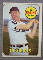 Al Kaline HOF MVP Detroit Tigers 1969 Topps Baseball Card # 410 Very Nice