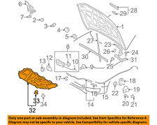 AUDI OEM 08-16 A5 Quattro Hood-Insulation Pad Liner Heat Shield 8T0863825H