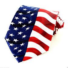 American Flag Men's Necktie United States July 4th Holiday Patriotic Neck Tie