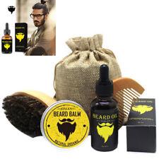 5X Pro Beard Grooming Kit,Beard Balm + Mustache Oil + Brush + Comb &Canvas Pouch
