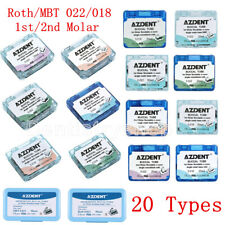 Dental Orthodontic Buccal Tubes 1st 2nd Molar Roth MBT 022 018 Bondable Non-Conv