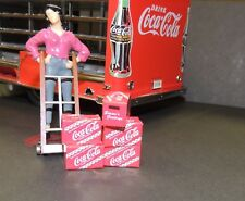 Holiday Season Coca-Cola  Cases with Handtruck Danbury MinT 1:24 G SCALE Diorama