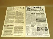 Vintage Schwinn Reporter Dealer Newsletter Newspaper July 1969 Sting Ray Pixie