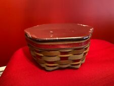 "Longaberger Crimson Hill 10"" Generation Basket, Lid and Protector Nwt"