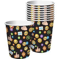 EMOJI LOL 9oz PAPER CUPS (8) ~ Birthday Party Supplies Beverage Drinking iPhone