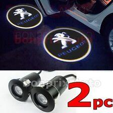 2x PEUGEOT LED Porte Laser Logo Projecteur 106 107 206 207 208 307 308 406 407