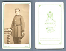 Mevius Rennes école militaire à identifier  vintage CDV albumen carte de visite