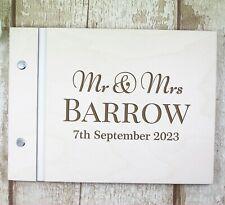 Personalised Guest Book Wedding Engagement Anniversary Birthday Album Mr & Mrs