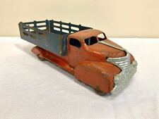 """VINTAGE 1930'S MARX PRESSED STEEL STAKE BODY TRUCK. ORIGINAL 14"""" LONG"""