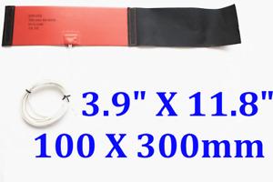 "3.9"" X 11.8"" 100 X 300mm 12V 240W Nitrous Bottle Heater Silicone Flexible Heater"