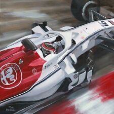 "Canvas 2018 Alfa Romeo Sauber C37 Charles Leclerc ""Close up"" by Toon Nagtegaal"