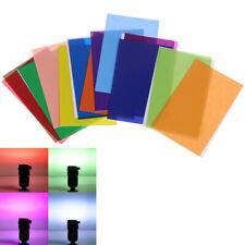 12PC Color Card For Strobist Flash Gel Filter Color Balance & Diffuser Light  &